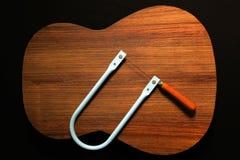 吉他现有量锯 库存图片