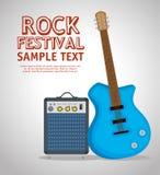 吉他电仪器标签 免版税库存照片