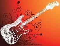 吉他草图 库存图片