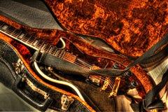 吉他葡萄酒 免版税库存照片