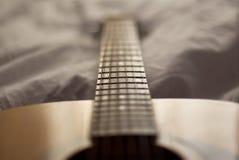 吉他详细资料 免版税库存照片