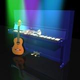 吉他钢琴喇叭 皇族释放例证