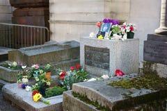 吉姆・莫里森墓碑巴黎 库存图片