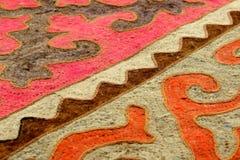 吉尔吉斯全国地毯shyrdak 图库摄影