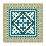 吉尔吉斯全国装饰品的餐巾 库存图片