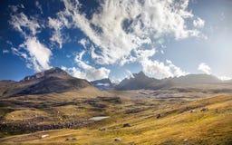 吉尔吉斯斯坦山 库存照片