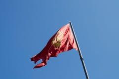 吉尔吉斯斯坦旗子 库存图片