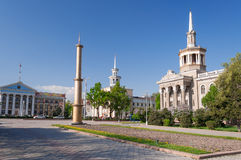 吉尔吉斯斯坦的国际大学 免版税库存照片