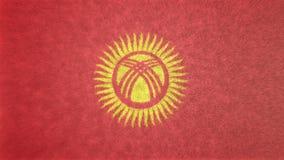 吉尔吉斯斯坦的旗子的原始的纹理3D图象 图库摄影