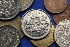 吉尔吉斯斯坦的硬币 免版税库存照片