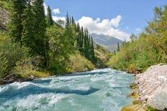 吉尔吉斯斯坦自然,格里峡谷 免版税图库摄影