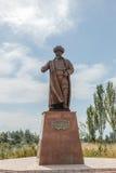 吉尔吉斯斯坦,伊塞克湖,村庄Kojoyar - 2016年8月12日:Monume 库存图片