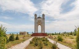 吉尔吉斯斯坦,伊塞克湖, Cholpon-Ata - 2016年8月12日:坟茔o 图库摄影