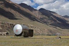 吉尔吉斯斯坦-汗腾格里峰营地(迈达队Adyr) 图库摄影