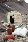 吉尔吉斯斯坦-汗腾格里峰营地 免版税库存照片