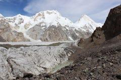 吉尔吉斯斯坦-汗腾格里峰(7, 010 m) 图库摄影