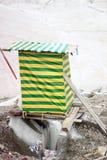 吉尔吉斯斯坦-汗腾格里峰(7,010 m)营地 免版税库存照片