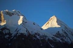 吉尔吉斯斯坦-汗腾格里峰(7,010 m) 图库摄影