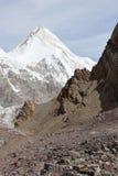 吉尔吉斯斯坦-汗腾格里峰(7,010 m) 库存照片