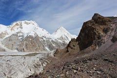 吉尔吉斯斯坦-汗腾格里峰(7,010 m) 免版税库存照片