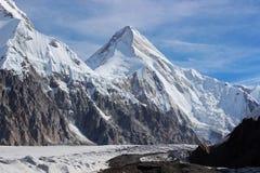 吉尔吉斯斯坦-汗腾格里峰(7,010 m) 免版税库存图片