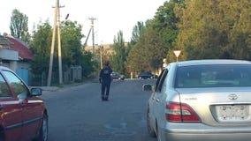 吉尔吉斯警察 免版税图库摄影