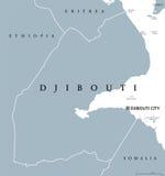 吉布提政治地图 皇族释放例证