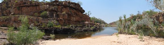 吉布河路,金伯利,澳大利亚西部 免版税库存照片