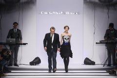 吉恩查尔斯de Castelbajac巴黎时尚星期 免版税图库摄影