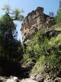 吉拉窑洞国家历史文物,新墨西哥 免版税库存照片