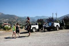 吉普徒步旅行队的探险家在土耳其 免版税库存图片