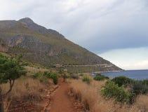吉普赛人自然储备-沿海足迹 免版税库存照片