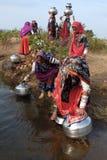吉普赛印度妇女 库存照片