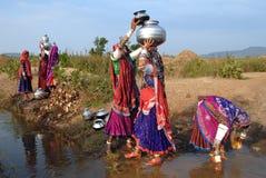 吉普赛印度妇女 图库摄影