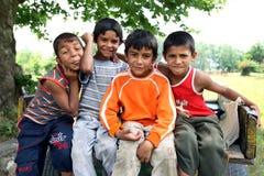 吉普赛男孩在爱迪尔内在土耳其 库存照片