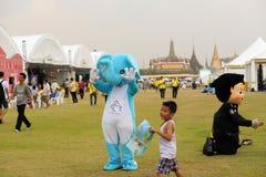 吉祥人为泰国国王的生日,一个主要假日 免版税库存图片
