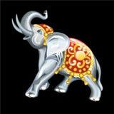 吉祥人的汇集:大象的小雕象 库存图片