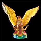 吉祥人的汇集:老鹰的金黄雕象 图库摄影