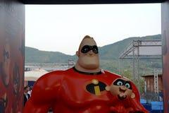吉福尼瓦莱皮亚纳, Sa,意大利- 2018年7月21日:电影预览Incredibles 2在Giffoni电影节2018年 免版税库存照片