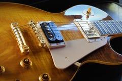 `吉米` 1959年葡萄酒照片的电吉他关闭 免版税图库摄影