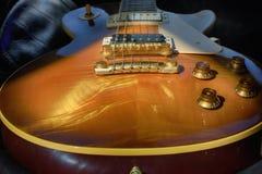 `吉米II ` 1959年葡萄酒照片的电吉他关闭 免版税库存图片