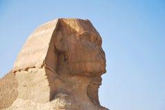 吉萨棉古老狮身人面象在开罗埃及附近的 图库摄影