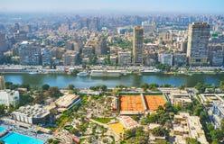 吉萨棉地平线,开罗,埃及 库存图片