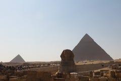 吉萨棉小组金字塔  免版税库存图片