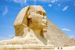 吉萨棉极大的狮身人面象 埃及 免版税库存图片