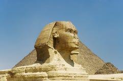 吉萨棉极大的狮身人面象 免版税库存图片