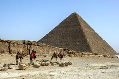 吉萨棉金字塔在开罗在埃及 库存照片