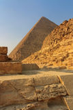 吉萨棉金字塔在开罗,埃及 库存图片