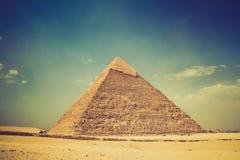 吉萨棉金字塔的看法 埃及 开罗 库存图片