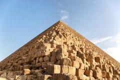 吉萨棉金字塔详细资料 库存照片